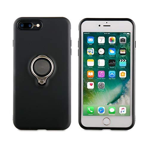 Muvit MUBKC0994 - Carcasa Ring magnetica para Apple iPhone 8 Plus/7 Plus, Color Negro