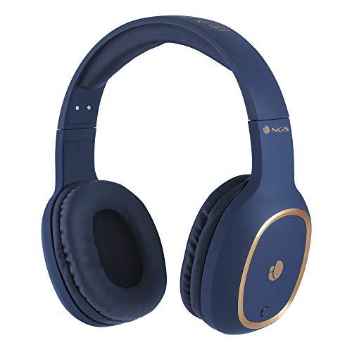 NGS Artica Pride Auricular para móvil Biauricular Diadema Azul - Auriculares (Inalámbrico, Diadema, Biauricular, Circumaural, 20-20000 Hz, Azul)