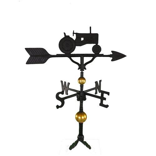 Montague Metal Products Deluxe Wetterfahne mit Traktor, Satin, Schwarz, 81,3 cm