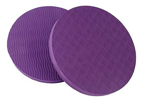OLI Ecologische yogamat met cirkel, mat, small, ronde mat, yogamat, 2 stuks, violet