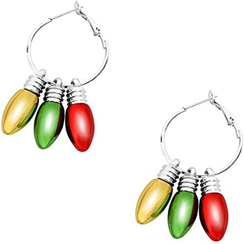 OKwife Christmas Stud Earring Set X-Mas Bulb Jingle Bell Pendientes Colgantes Joyas Festivas
