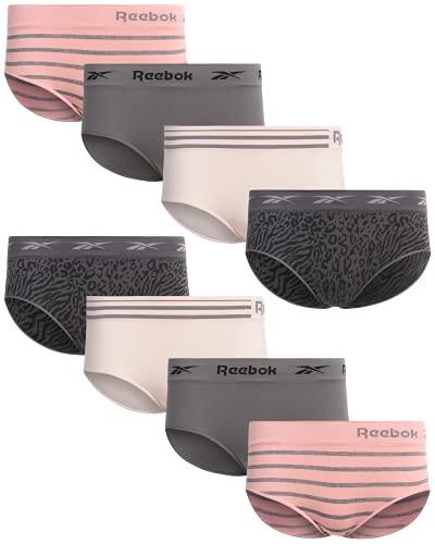 Reebok Women?s Underwear ? Seamless Hipster Briefs (8 Pack), Size X-Large, Black/Pink/Rose/Grey