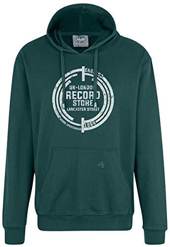 Ahorn Sportswear Sudadera con capucha Record de color blanco Bottle Green Verde botella. XXXXXXXL