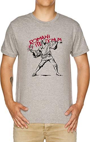 Vendax Romani ITE Domum Camiseta Hombre Gris