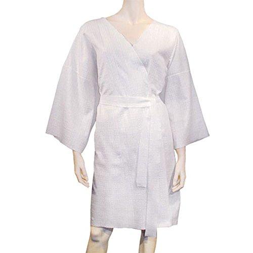 Einweg-Kimono, im Polybeutel verpackt, weiß, Bademantel für den einmaligen Gebrauch - ideal für Wellness, Spa oder Hotels