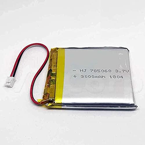 1x Lipo Akku 1s 3,7V 2500mAh 3000mAh  JST PH Stecker Empfänger Sender Drohne Quadrocopter UFO PCB 785060 kabellos wiederaufladbar Bluetooth Headset Schlüsselanhänger Cam Uhr Video Baby Monitore etc.