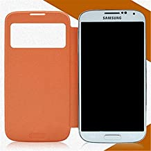 [Expedited] Minimalist Solid Color PU Leather for Samsung Galaxy S4 Mini I9190 (Assorted Colors) Easy to protection phone. (Color : Orange, Compatible Models : Galaxy S4 Mini)