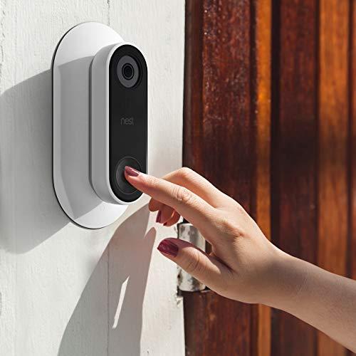 Nest Hello Soporte de Montaje Placa de pared,LUXACURY Montaje en pared para Nest Hello Nido Hola Timbre Doorbell Estable Estuche protector de ABS r/ígido para montaje en pared