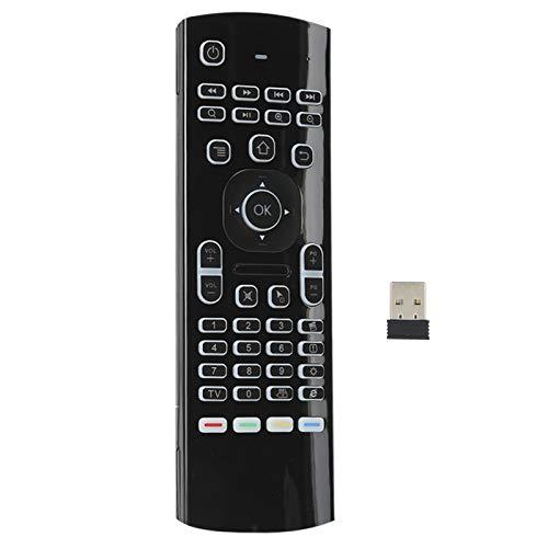 FOLOSAFENAR Retroiluminación de 6 Ejes Teclado infrarrojo Sensor de Infrarrojos Control Remoto Retroiluminación Teclado, para Smart Television