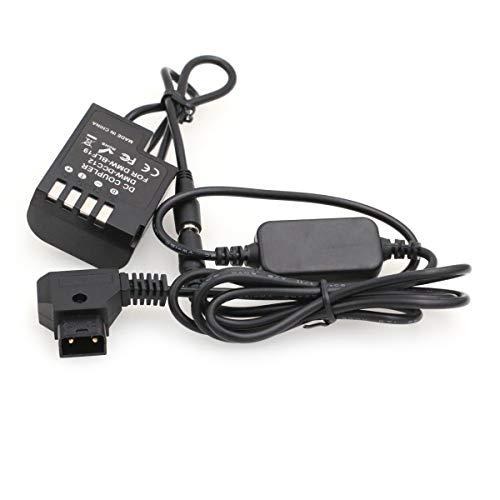 SZRMCC D-tap 2 pines a DMW-BLF19 - Acoplador de CC DMW-DCC12 para cámara Panasonic DMC GH5 GH4 GH3 (cable recto)