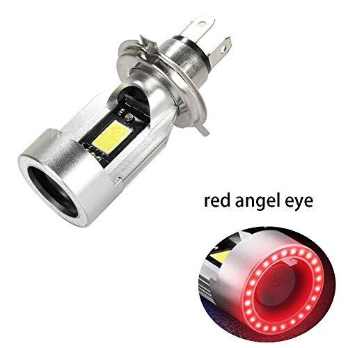 Riloer Moto H4 9003 HA CONDOTTO il faro, CREE chip 6500K luce del motociclo Angel eye faro HS1 (H4 tre-artiglio)
