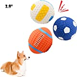 HOLYSTEED Squeaky Balls for Dogs Latex Dog Toy, Dog Squeaky Toys for Dogs, Dog Squeaky Balls for Small and...