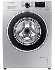 Samsung 8 Kg 1200 RPM Diamond Drum, Front Load Washing machine with Eco Bubble, Silver - WW80J4260GS, 1 Year Manufacturer Warranty