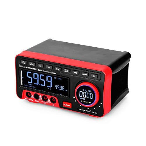 JIAHONG Multímetro Pantalla digital multímetro 19999 Condes de alta precisión del alcance automático BT Audio multímetro AC/DC Tensión Corriente Resistencia de la capacitancia de frecuencia Medidor