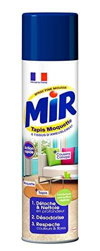 Mir Tapis Moquette Nettoyant Tapis/Moquettes Spray Mousse 600 ml