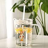 Best Baby Straw Cups - Lexiwells Random Design Glass Tumbler with Handle, Clear Review