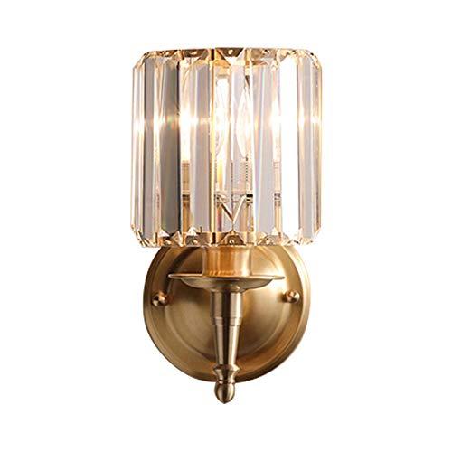 miwaimao Moderna lámpara de pared de cristal LED creativa lámpara de pared lámpara de noche en estilo nórdico minimalista para dormitorio, salón, vestíbulo, comedor, cama, double sin luz