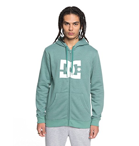 DC Shoes Star Hoodie, Hombre, Green/Green/White - Combo, M