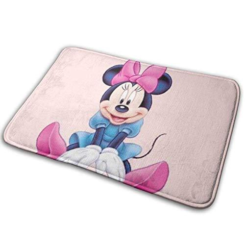 Chimmy95 Fußmatte Soft Carpet Eingangsmatte Stilvolle süße Minnie Mouse Design für Terrasse, Haustür, Badezimmer, Balkon-23,6 \'X 15,7\'