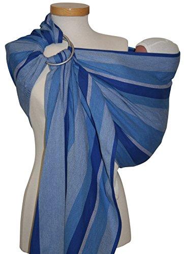 Storchenwiege - Echarpe ringsling eric coton bio - 1 écharpe - écharpe porte-bébé, douceur et sécuri