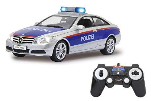 Jamara 405126 Mercedes-Benz E 350 Coupe Policía Plata/Rojo 1:16 2,4 G sirena...