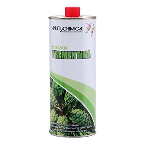 Multichimica Essenza di Trementina 1lt di origine vegetale diluente solvente pulitore