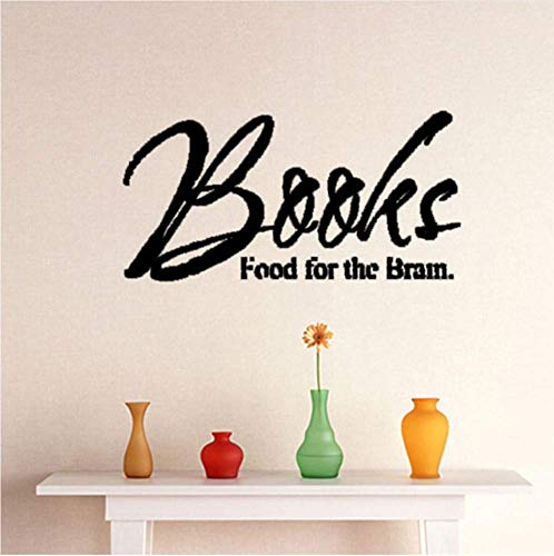 Boeken Voedsel Voor De Hersenen Vliegtuig Muursticker Voor Kamerbrieven Woonaccessoires Wanddecoratie Decals 58X29Cm