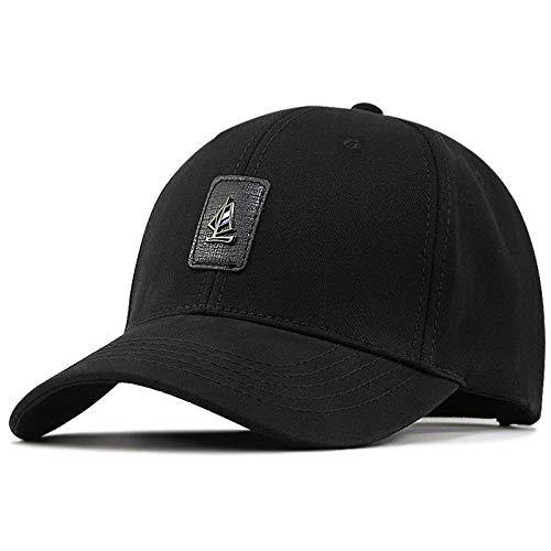 Casquette Homme Big Head Plus Size Men Hat Cap Male Outdoors Fishing Sun Hat Men Plus Size Baseball Caps-Black_56-60Cm