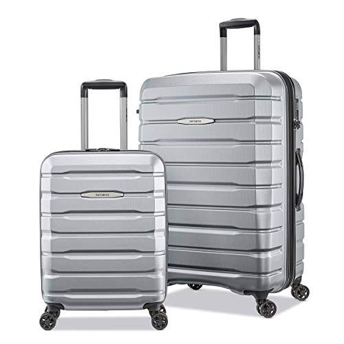Samsonite Tech-3, 2 Piece Hardside Suitcase Set, Silver