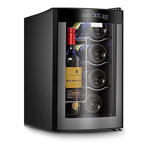 ELXSZJ XTZJ Frigorífico de Vino de 10 Botellas, Nevera de Vino termoeléctrico, Bodega Independiente para Cocina pequeña, apartamento, condominio, casa de Campo, RV