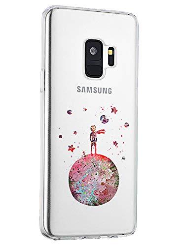 Galaxy S9 Cover Clear Samsung Galaxy S9 S9 Plus Case Silicone Ultra Sottile Sim Supporta la Ricarica Wireless Custodia TPU Antiurto No-Slip Anti-Graffio (Piccolo Principe, Samsung Galaxy S9)
