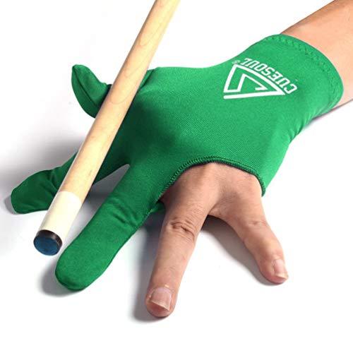 CUESOUL Billardhandschuhe, 3 Finger, 10 Stück, grün