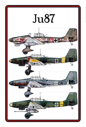 Schatzmix JU 87 Plaque Murale en métal Motif Avion 20 x 30 cm