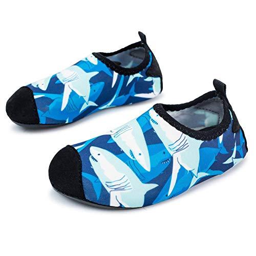 L-RUN Leichte Schwimm-Wasser-Schuhe für kleine Kinder Slip On Beach Aqua-Socken für Surf-Yoga