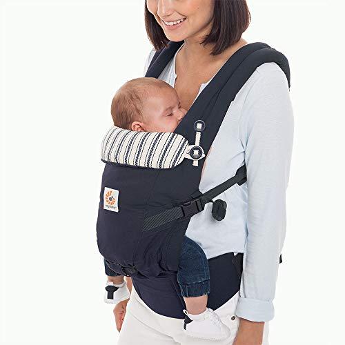 Ergobaby Babytrage für Neugeborene, Adapt 3-in-1 Baby Tragesystem Ergonomisch, Babytragetasche Bauchtrage (Admiral Blue)