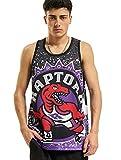 Mitchell & Ness NBA Jumbotron - Camiseta sin mangas para hombre, diseño de Toronto Raptors, color violeta morado M