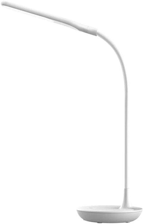 JOYIYUAN LED-Tischleuchte Dreistufige Dimm-Faltschlauch Aus Kunststoff USB-Schnittstelle Schülerzimmer Lernlampe (Farbe