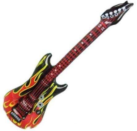 Nerd air guitar flammengitarre env. 100 cm