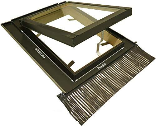 Lucernario per Tetto Finestra Mansarda Skylight Legno Alluminio a Vasistas - Doppio Vetro - Isolamento - Permette anche Fisicamente di uscire dal Lucernario - Dimensioni Misure cm 45X80