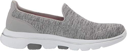 Skechers Damen Go Walk 5-Honor Sneaker, Grau (Gray Textile/Trim Gry), 38.5 EU