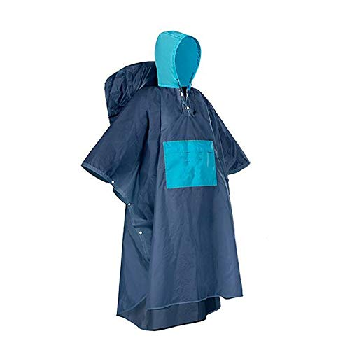 Waterdichte regenponcho, wordt geleverd in compacte opbergtas, slijtvast, licht, herbruikbaar, opvouwbaar, gemakkelijk schoon te maken, geschikt voor mannen, vrouwen