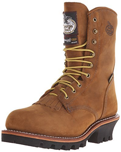 Georgia Men's G9382 Logger Steel Toe Work Boot, Worn Saddle, 9.5 M US
