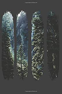 Dark Forest: Unique Designer Woodland Gloomy Fir Forest Composition College Notebook and Diary to Write In / 140 Pages of ...