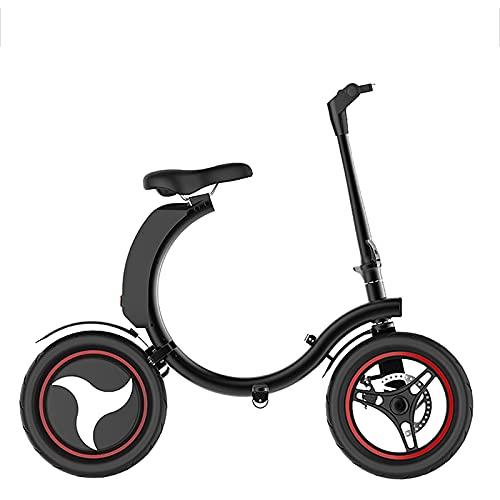 RUBAPOSM Bicicleta eléctrica 450W Ciudad Ciudad Bicicleta eléctrica Bicicleta eléctrica de la Bicicleta eléctrica de 14 Pulgadas Neumático de Bicicleta Ebike 7.8Ah batería de Litio 25km / h