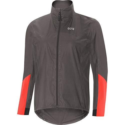 GORE Wear C7 Ladies Racing Bike Jacket GORE-TEX SHAKEDRY, S, Grey/Orange