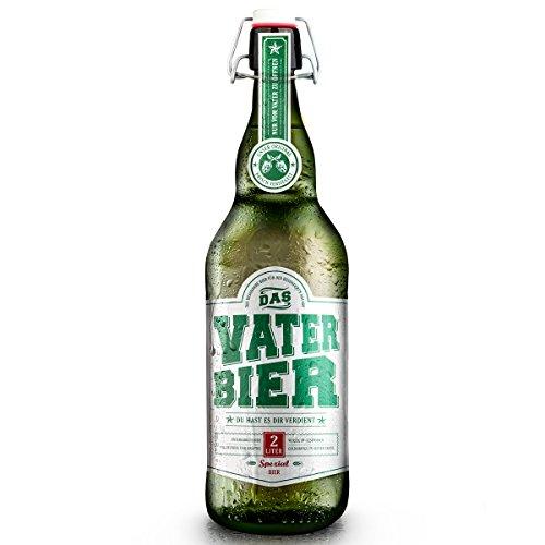 Vaterbier (1x2Liter) Bügelflasche, Geschenke für Männer, Bier Geschenk - Vatertag 2021