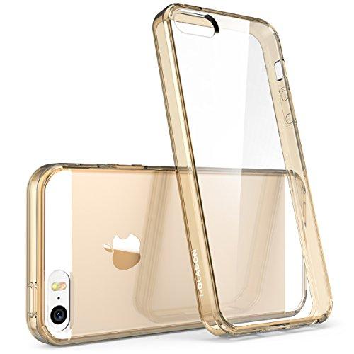 i-Blason Custodia Apple iPhone SE / 5S / 5 Cover [Halo Series] Trasparente Copertura e paraurti della Cassa [AntiGraffio]
