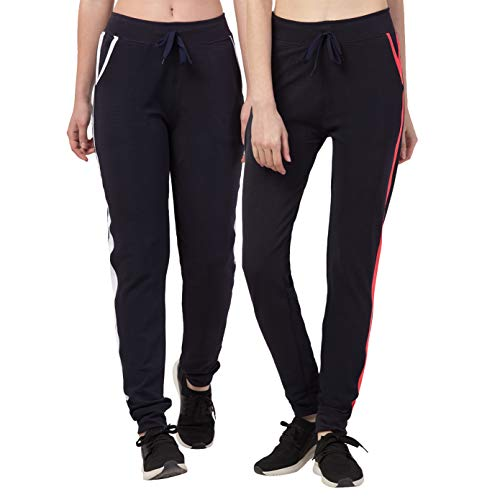 Kissero Women's Regular Dry Fit Polyester Track Pants,Comfortable Lower,Trouser,Sports Joggers,Night n Daily Use Gym Wear Lounge Pant for Ladies