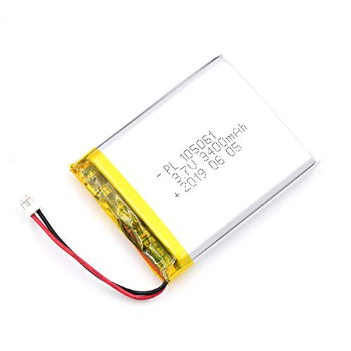 AKZYTUE 3.7V 3400mAh 105061 Lipo Battery Rechargeable Lithium Polymer ion Battery Pack with JST Connector