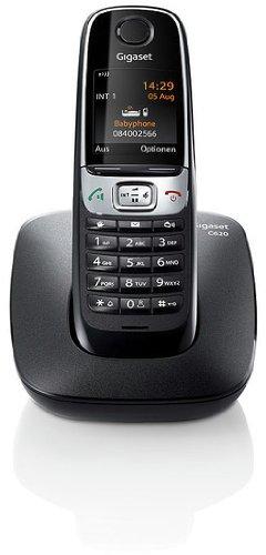 Gigaset C620 Telefon - Schnurlostelefon / Mobilteil - schnurloses Telefon - Farbdisplay / Dect-Telefon / Freisprechen schwarz